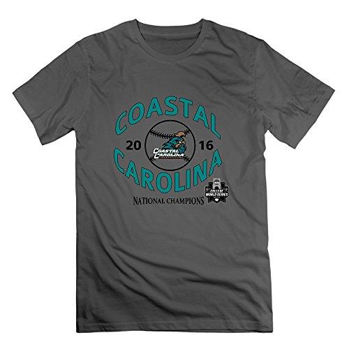 JMHLY Men's Coastal Carolina Chanticleers Champions Logo Tshirts DeepHeather