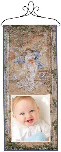 Manual Inspirational Collection Hanging Wall Panel With Photo Pocket, Angel Of Light By Lena Liu, 13 X 30-Inch front-1037588