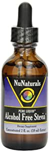 NuNaturals Nustevia Alcohol Free Stevia Glass Bottle Liquid, 2-Ounce