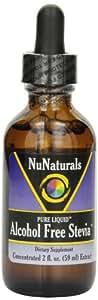 NuNaturals Nustevia Alcohol Free Stevia Glass Bottle Liquid, 2-Ounce