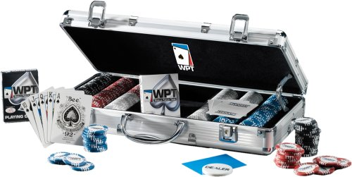World Poker Tour Official 300 11.5-Gram Clay Filled Poker Chip Set with Aluminum Case