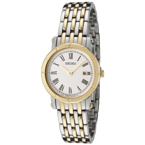 Seiko Women's SXB418 White Dial Two-Tone Stainless Steel Watch