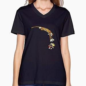 Calvin And Hobbes Basic Women's V-Neck Cloths