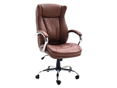 Chefsessel-Brostuhl-Brosessel-Arbeitsstuhl-Schreibtischstuhl-Stuhl-Puppi-I-Vintage-Cognac
