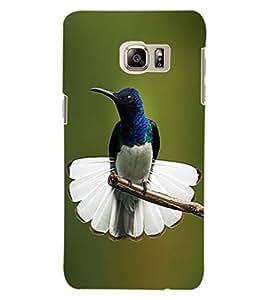 ColourCraft Cute Bird Design Back Case Cover for SAMSUNG GALAXY S6 EDGE PLUS