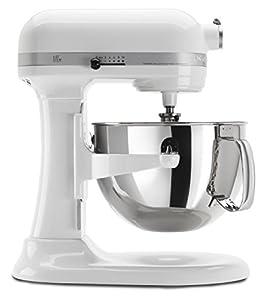 KitchenAid KP26M1XWH Professional 600 Series 6-Quart Stand Mixer, White