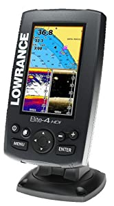 Lowrance ELITE-4 HDI Combo Plotter Fishfinder without Transducer by Lowrance