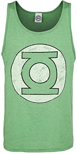 Green Lantern Distressed Logo Canottiera verde XL