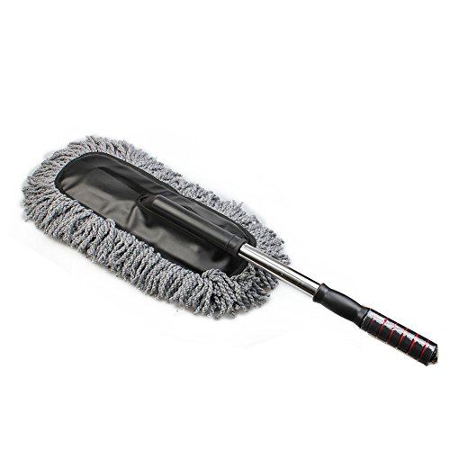car wash cleaning brush duster dust wax mop microfiber telescoping dusting tool gray vehicles. Black Bedroom Furniture Sets. Home Design Ideas