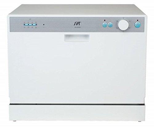 SPT SD-2202W Countertop Dishwasher with Delay Start, White