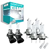 55w Clear Xenon High (main) / Low (dipped) / Fog / Side beam upgrade HeadLight Bulbs BMW 3 Coupe SERIES E46 320 Ci 04.99->