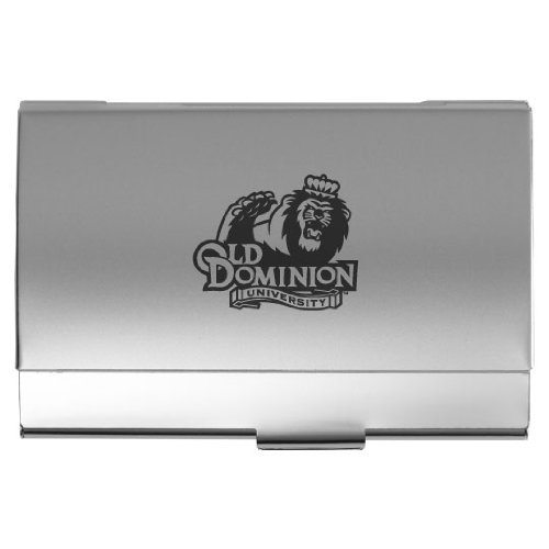 Old Dominion University - Two-Tone Business Card Holder - Silver (Dominion Merchandise compare prices)