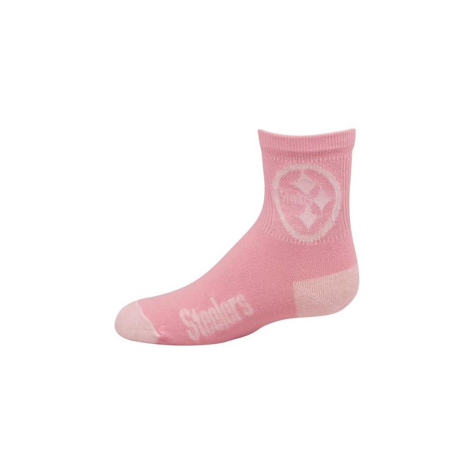 NFL Pittsburgh Steelers Preschool Pink Team Logo Socks
