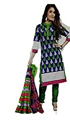 Riddhi Dresses Women's Cotton Unstitched Dress Material (Riddhi Dresses 74_Multi Coloured_Free Size)