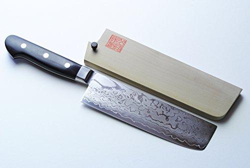 Yoshihiro 165Mm Rb Damascus Usuba Japanese Chef Knife, 6.5-Inch