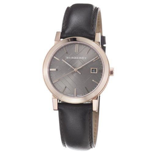 Burberry Men's BU9013 Large Check Brown Leather Strap Watch