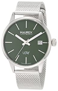 Haurex Italy Women's 2A363DV1 Leaf Steel Mesh Band Watch