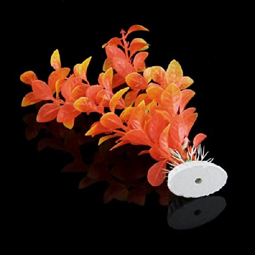 Plante artificielle orange en plastique d coration for Plante haute artificielle