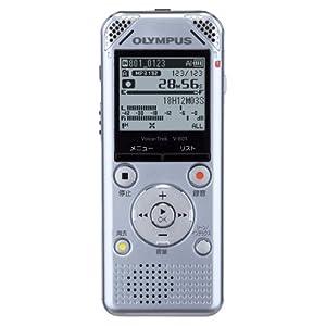 OLYMPUS ボイスレコーダー VoiceTrek 2GB 高音質 MP3/WMA ステレオ録音 microSD対応 V-801 SLV シルバー