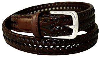 Dockers Men's Dockers 30Mm V Weave Braid Belt, Tan, 32