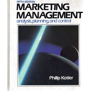 Marketing Management: Analysis, Planning and Control (The Prentice-Hall series in marketing)