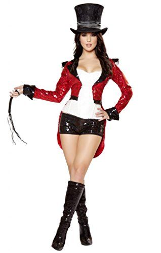 Sexy Sequins Ziegler Moulin Rouge Ringmaster Halloween Costume
