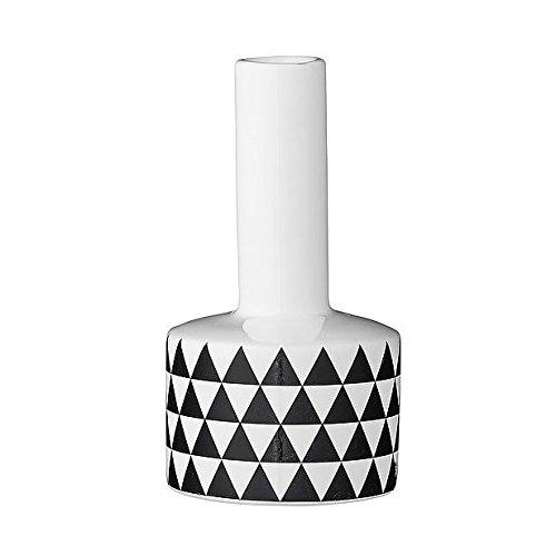 Bloomingville Vase, Triangles, White/Black