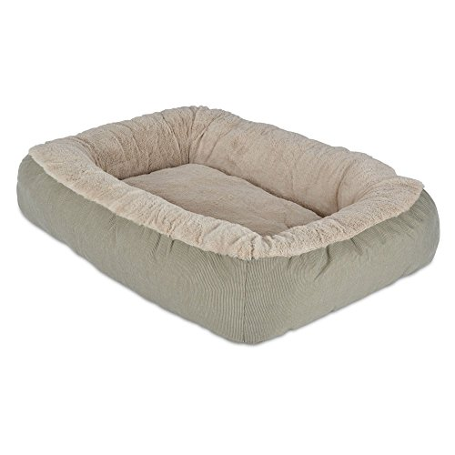 Precision Pet Bumper Pillow Bed, 26 by 22 by 7-Inch, Beige/Beige (Precision Pet Bumper Pillow Bed compare prices)