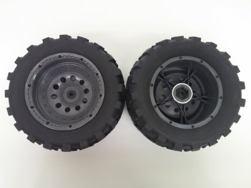 IMEX 1/5 Scale J-7 Baja Mounted Jumbo Tire Set with Gun Metal Beadlock Rims (One Pair of Tires & Rims) (Imex Tires compare prices)
