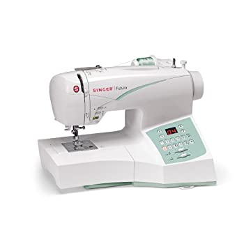 SINGER Futura CE-250 Computerized Sewing and Embroidery Machine with 2 Hoop Sizes, 100 Sitches, 120 Embroidery Designs, 5 Monogramming Fonts