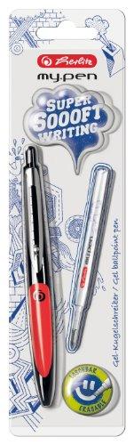 Herlitz my.pen 11370038 - Bolígrafo (tinta gel), color negro y rojo