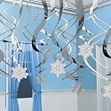 Snowflake Hanging Swirls - 30 pieces