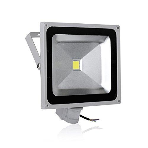 50W Induction Lamp 110V Led Pir Motion Sensor Flood Light Ip65 Cool White New