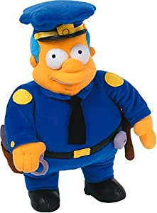 chief wiggum from the simpsons plush 31cm amazon co uk toys amp games