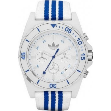 Adidas ADH2665 STOCKHOLM White Blue Chronograph Watch