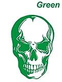 大ブレイクのドクロステッカー スカル ガイコツ 緑 カッティングステッカー ウォールステッカー