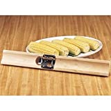 LeeS Corn Cutter Wood Holder With Stainless Steel Blade Bagged