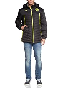 PUMA Herren Jacke Bvb Coach Jacket, black-dark gray heather, S, 743546 01