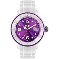 Ice-Watch Unisex Quartz Watch with Purple Dial Analogue Display and White Silicone Strap SI.WV.U.S.12