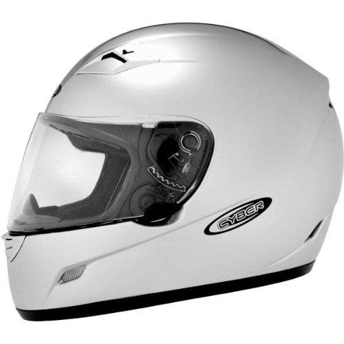 Cyber Helmets US-39 Solid Helmet , Size: Lg, Primary Color: Silver, Distinct Name: Light Silver, Helmet Type: Full-face Helmets, Helmet Category: Street, Gender: Mens/Unisex 640743