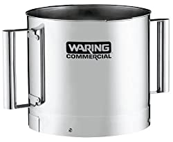 Waring Commercial FP40SSB Stainless Steel Batch Bowl with 2-Handle 4-Quart