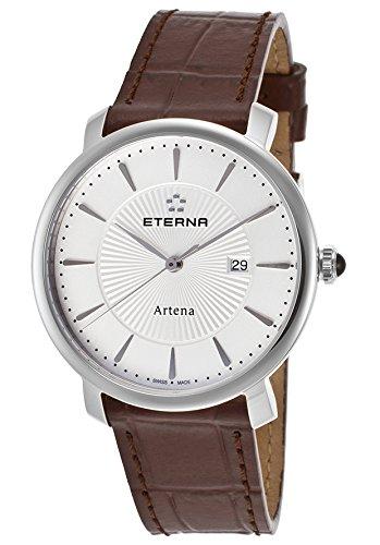 eterna 2510-41-11-1253 - Reloj para mujeres, correa de cuero color marrón