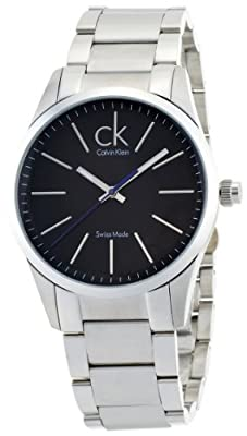 Calvin Klein Men's 'Bold' Swiss Quartz Stainless Steel Automatic Watch, Color:Silver-Toned (Model: K2241102)