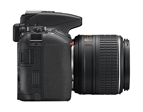 Nikon D5500 + Nikkor 18-55 VR II Fotocamera Reflex Digitale, 24,2 Megapixel, LCD Touchscreen Regolabile, Wi-Fi Incorporato, Nero [Versione EU]