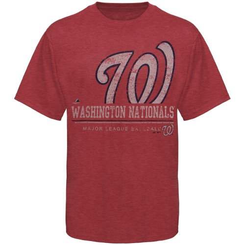 MLB Washington Nationals Submariner Basic T-Shirt, Cardinal Heather, X-Large at Amazon.com