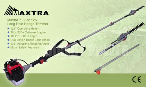 Maxtra 3.3m Long Reach Pole Hedge Trimmer 900W