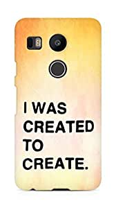 AMEZ i was created to create Back Cover For LG Nexus 5x