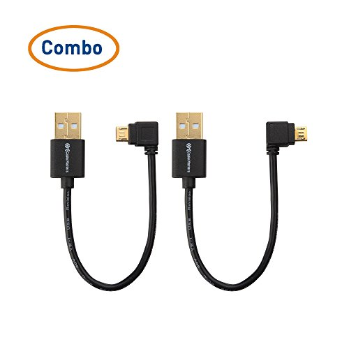 Cable Matters® (Combo-Pack) USB Power Cable for TV Stick and Charging Cable for Power Bank 6 Inches - Compatible with Chromecast, Roku Streaming Stick, and Fire TV Stick
