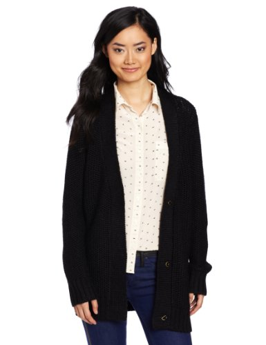 WeSC Women's Uzima Long Sleeve Cardigan, Black, X-Small