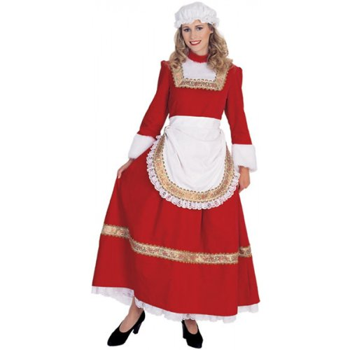 Classic Old Time Mrs. Santa Adult Costume - Large